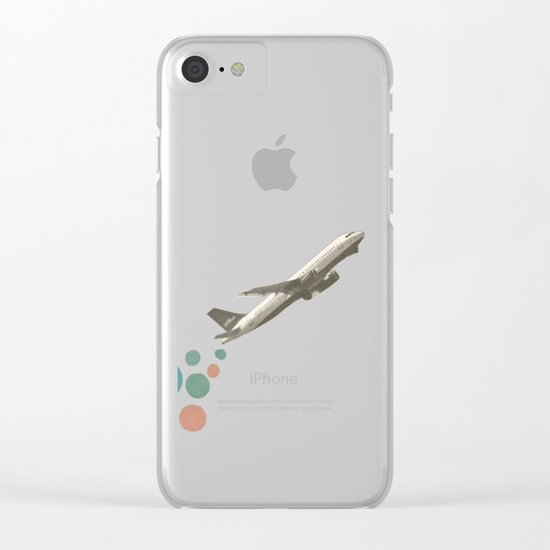 Leaving on a Jet Plane Clear iPhone Case