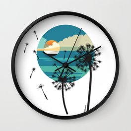 Almost Paradise Wall Clock