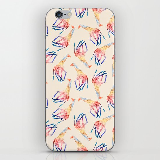 Watercolor Giraffe Pattern (Ivory) iPhone & iPod Skin