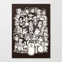 discworld Canvas Prints featuring Point and Click  by Hoborobo