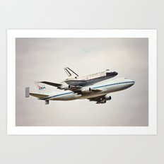Space Shuttle Discovery Art Print