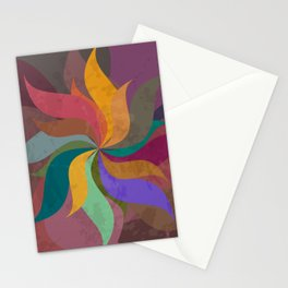 Pinwheel Grungy Abstract Design Stationery Cards