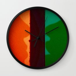 Behind Stained Glass Windows Wall Clock