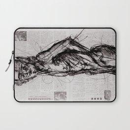 Saint - Charcoal on Newspaper Figure Drawing Laptop Sleeve