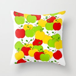 Bunches Of Apples Throw Pillow