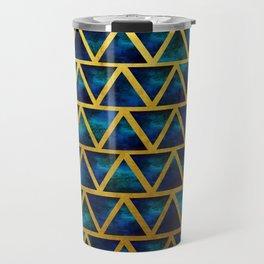 Blue and gold universe Travel Mug