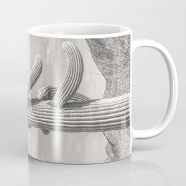 Desert Sentinel, Black and White Cactus Decor by Murray Bolesta Coffee Mug