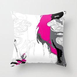 The Smoker #3 Throw Pillow