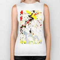 splatter Biker Tanks featuring Paint Splatter  by Gravityx9