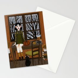 quiet kitten Stationery Cards