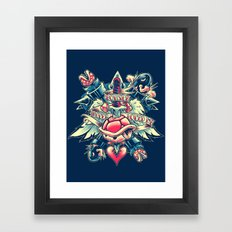 BOWSER NEVER LOVED ME (3-color) Framed Art Print