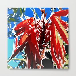 A bright red flower Metal Print