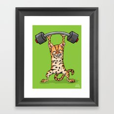 Ocelot Power Lifter Framed Art Print