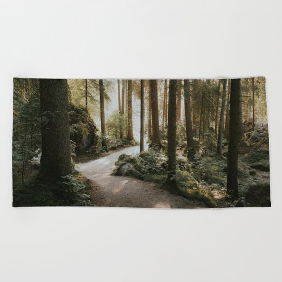 Lost in the Forest - Landscape Photography Beach Towel