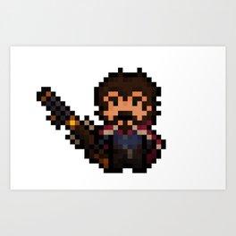 Graves, The Pixel Gunslinger Art Print