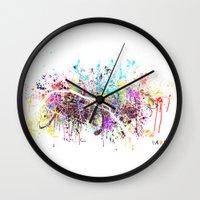 paris Wall Clocks featuring Paris by Nicksman