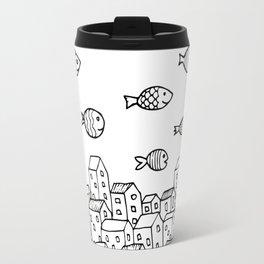 Underwater village Travel Mug