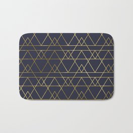 Modern Gold Navy Blue Bath Mat