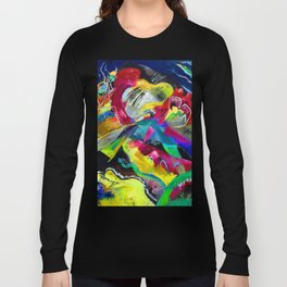 Kandinsky Picture with White Lines Long Sleeve T-shirt