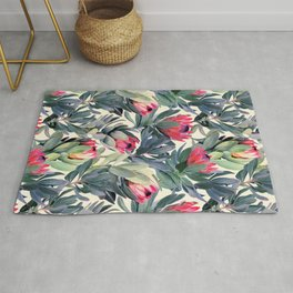 Painted Protea Pattern Rug
