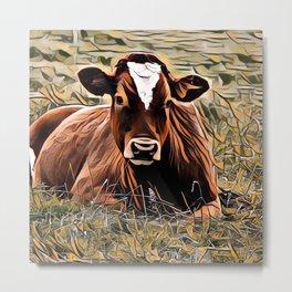 ArtAnimal Cow Metal Print