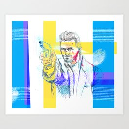 Tom Cruise - Collateral Art Print
