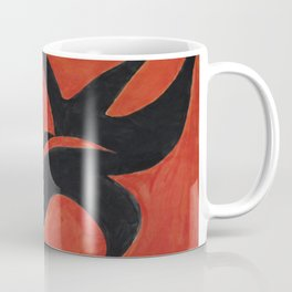 Orange On Black Coffee Mug