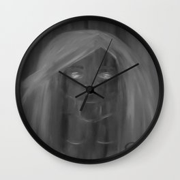 Invisible by Lu, black-and-white Wall Clock