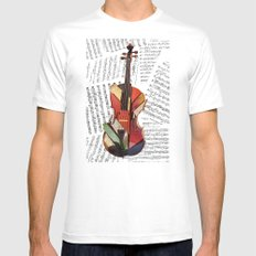piece by piece MEDIUM White Mens Fitted Tee