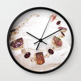 Watermelon Tourmaline Wall Clock