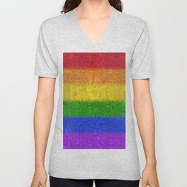 Rainbow Glitter Gradient Unisex V-Neck