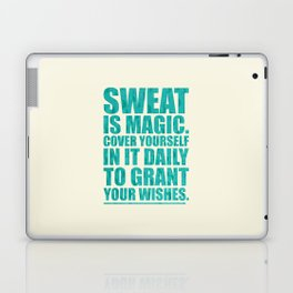 Lab No. 4 - Sweat Is Magic Cover Yourself In It Daily Gym Inspirational Quotes Poster Laptop & iPad Skin