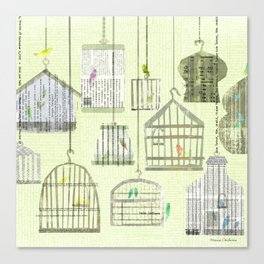 Bird cages Canvas Print