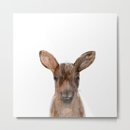 littlest moose Metal Print