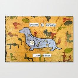 Dachshund - Powered by curiosity Canvas Print