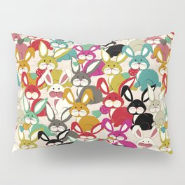 Colored  Easter bunny seamless pattern Pillow Sham