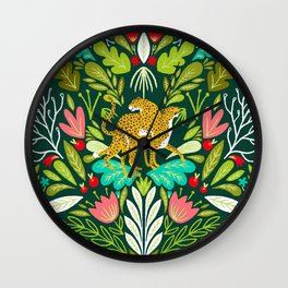 A Walk In Nature Walks The Soul Back Home #illustration Wall Clock