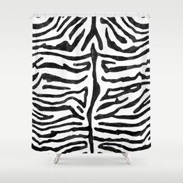 Zebra Stripes Black and White  Shower Curtain