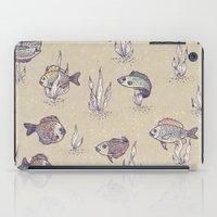 swimming iPad Cases featuring swimming by Lidija Paradinović Nagulov - Celandine