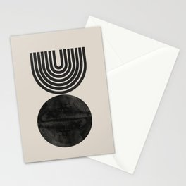 Woodblock Print, Modern Art Stationery Cards