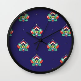 Festival of Flowers Wall Clock