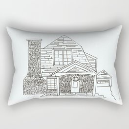 Berkley Rd House Black and White Rectangular Pillow