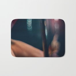 Pole Dancer Abstract Bath Mat