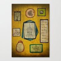 frames Canvas Prints featuring Frames by Duru Eksioglu