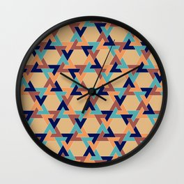 Geometric pattern 1977 Wall Clock