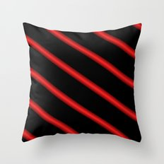 Red on Black Throw Pillow