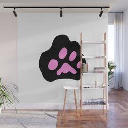 Cute Cat Paw Wall Mural