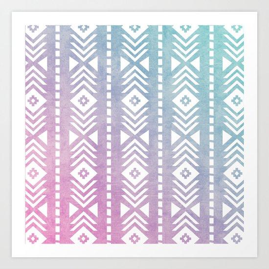 Aztec Pattern 12 Art Print