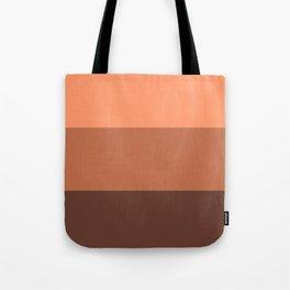 Peach Gradient Pattern Tote Bag