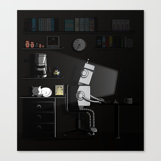 All Nighter Canvas Print